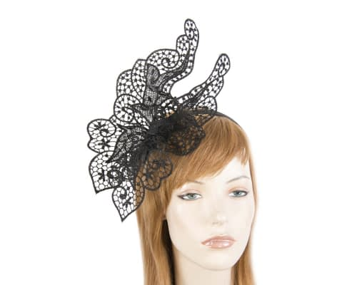 Fascinators Online - Black lace butterfly fascinator 44