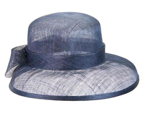 Fascinators Online - Navy sinamay hat by Max Alexander 3