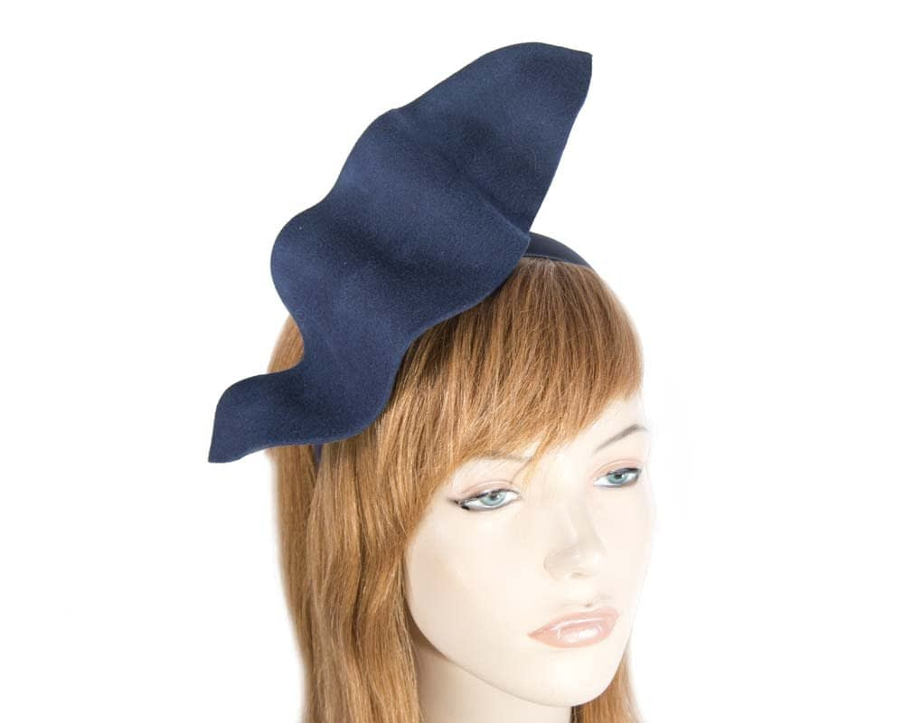 Navy felt winter fascinator J340N