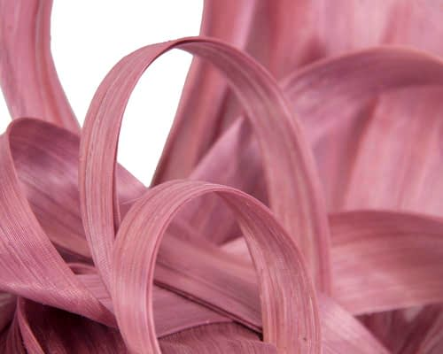 Fascinators Online - Large dusty pink heart fascinator by Fillies Collection 3