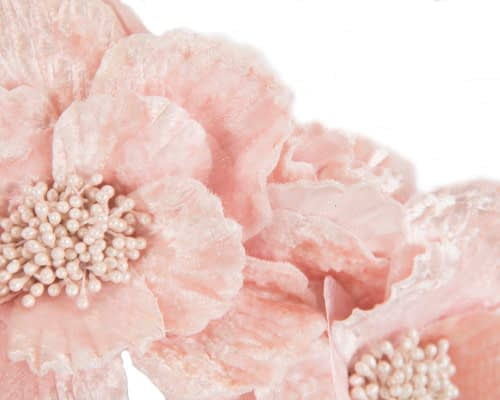 Fascinators Online - Pink flower halo by Fillies Collection 3