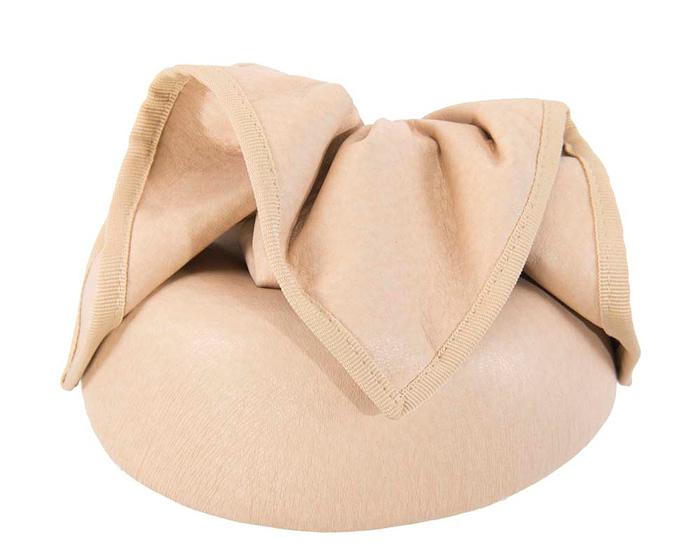 Fascinators Online - Nude leather pillbox fascinator by Max Alexander 6