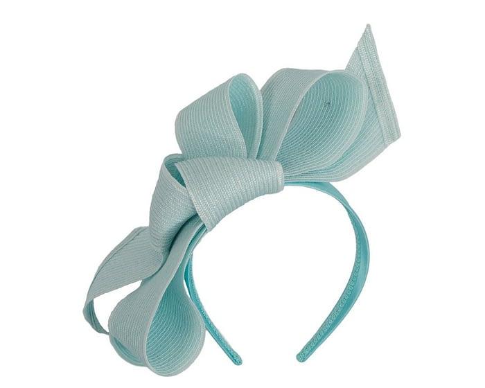 Fascinators Online - Large light blue bow fascinator by Max Alexander 2