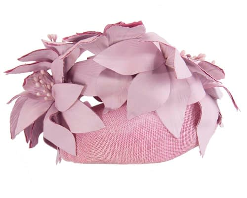 Fascinators Online - Lilac leather flower pillbox fascinator by Fillies Collection 6