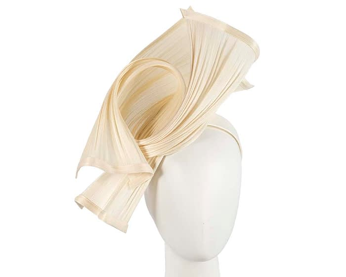 Fascinators Online - Twisted cream jinsin racing fascinator by Fillies Collection 1