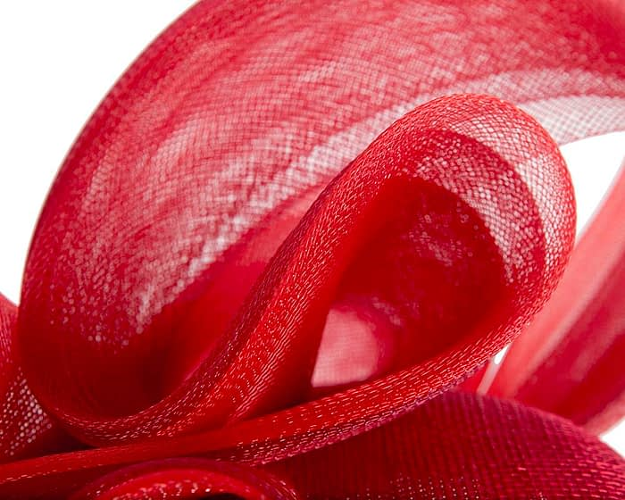 Fascinators Online - Red pillbox racing fascinator with wave by Fillies Collection 5