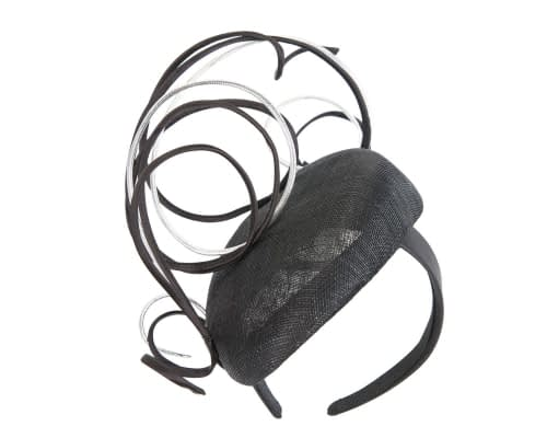 Fascinators Online - Designers black & silver racing fascinator by Fillies Collection 2