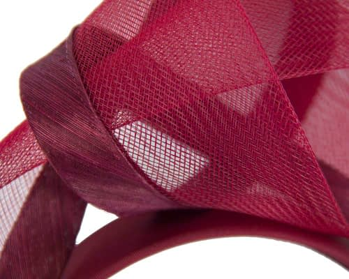 Fascinators Online - Wine turban headband by Fillies Collection 3