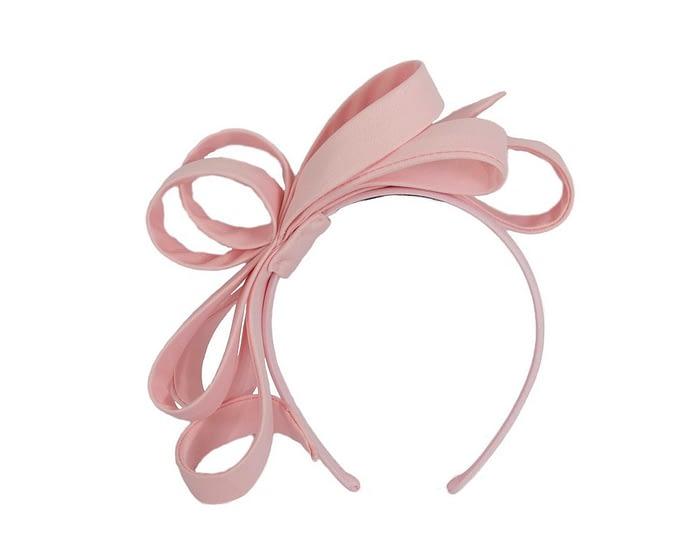 Fascinators Online - Pink bow racing fascinator by Max Alexander 2