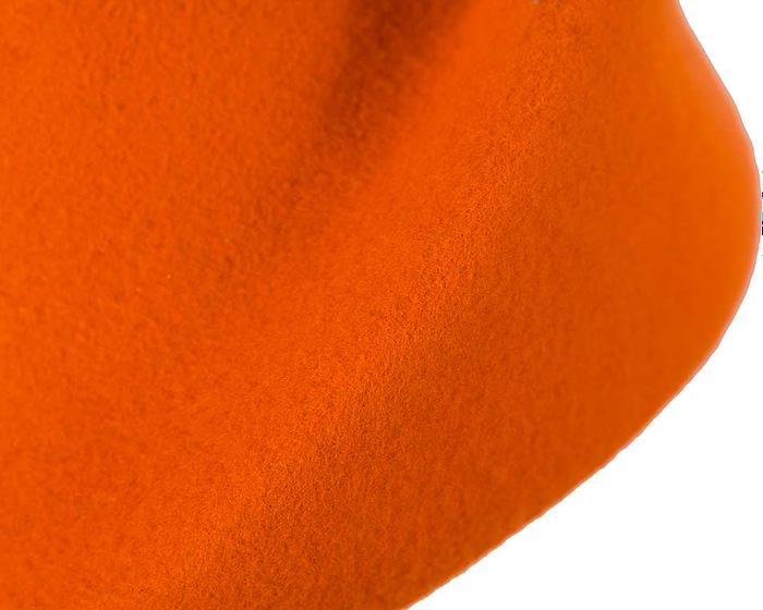 Fascinators Online - Designers orange felt hat 4