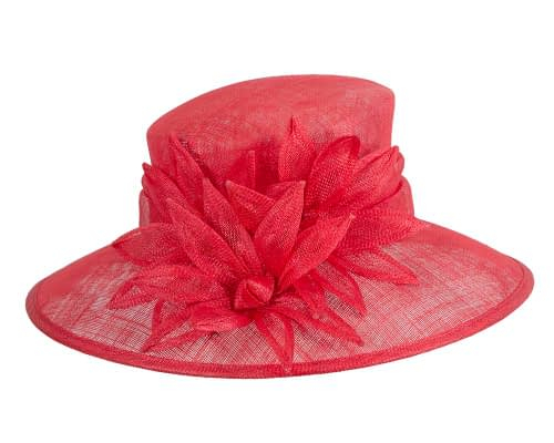 Fascinators Online - Large traditional red racing hat by Max Alexander 4