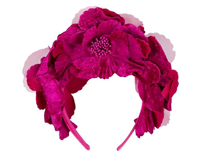 Fascinators Online - Fuchsia flower halo 4