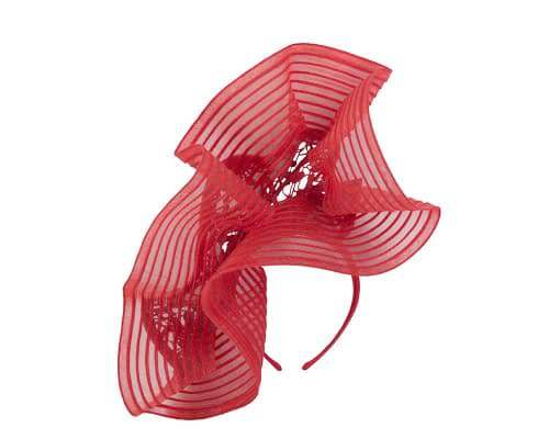 Fascinators Online - Large red racing fascinator with lace by Fillies Collection 4
