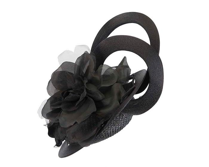 Fascinators Online - Large designers black fascinator by Fillies Collection 4