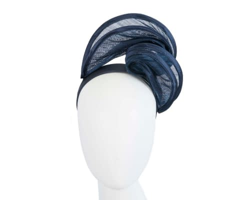 Fascinators Online - Navy headband racing fascinator by Fillies Collection 24