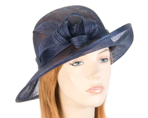 Fascinators Online - Navy cloche spring fashion hat by Max Alexander 2