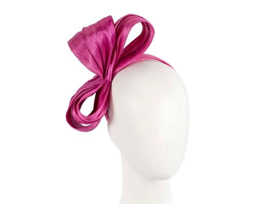 Fascinators Online - Fuchsia bow racing fascinator by Fillies Collection 82