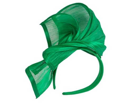 Fascinators Online - Green twists of silk abaca fascinator by Fillies Collection 2