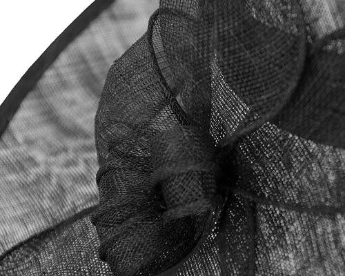 Fascinators Online - Large black fashion hat by Max Alexander 4