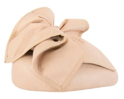 Fascinators Online - Nude leather pillbox fascinator by Max Alexander 4