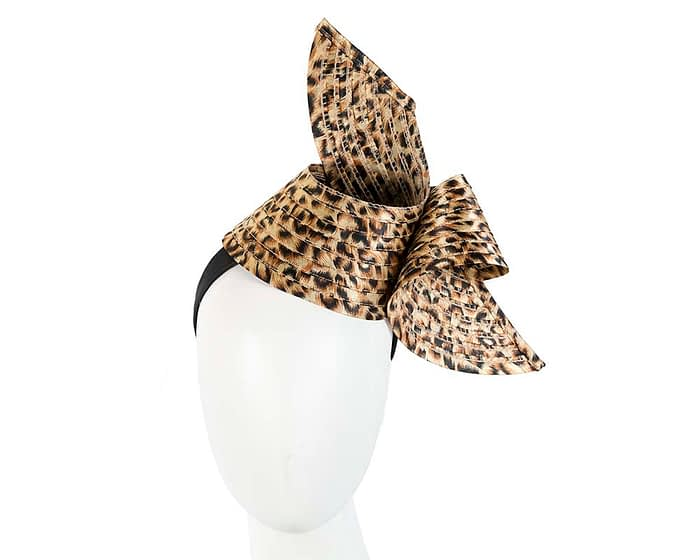 Fascinators Online - Stylish leopard Australian Made racing fascinator by Max Alexander 1