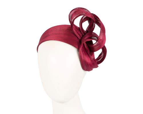 Fascinators Online - Burgundy wine retro headband fascinator by Fillies Collection 1