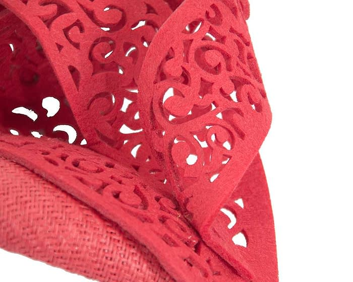 Fascinators Online - Red fascinator laser-cut trim by Fillies Collection 4