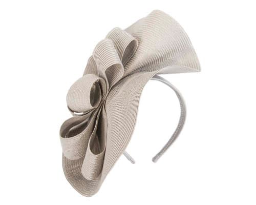 Fascinators Online - Large silver fascinator with loops by Max Alexander 2