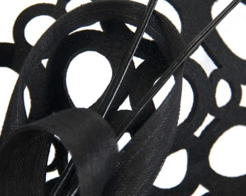 Black laser-cut fascinator