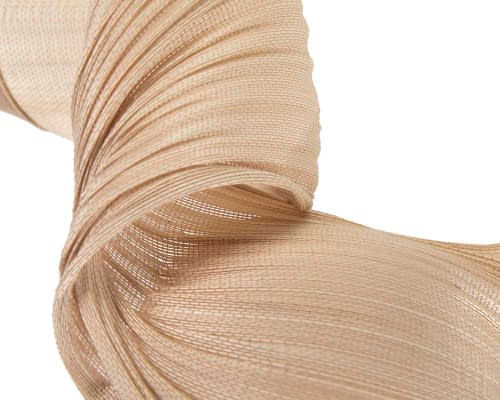 Fascinators Online - Nude twisted jinsin fascinator by Fillies Collection 4