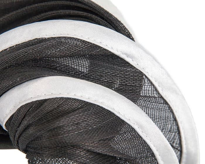 Fascinators Online - Black & white headband racing fascinator by Fillies Collection 3