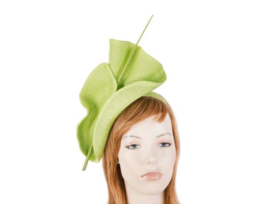 Fascinators Online - Modern Lime racing fascinator by Max Alexander 3