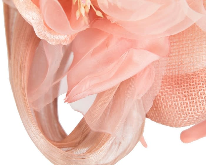 Fascinators Online - Pink pillbox fascinator with large flower by Fillies Collection 5