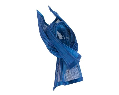 Fascinators Online - Twisted royal blue jinsin racing fascinator by Fillies Collection 3