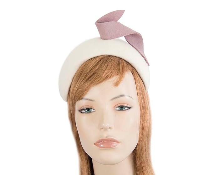 Fascinators Online - Wide cream & nude designers headband winter fascinator by Max Alexander 1
