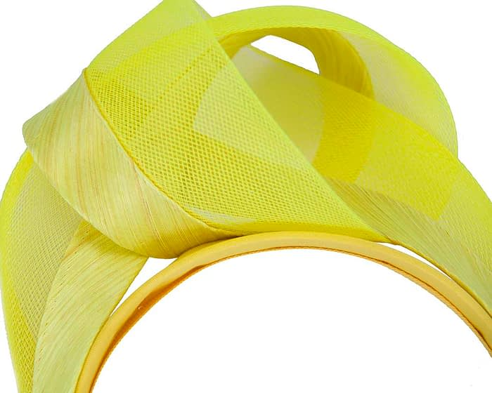 Fascinators Online - Yellow turban headband by Fillies Collection 3