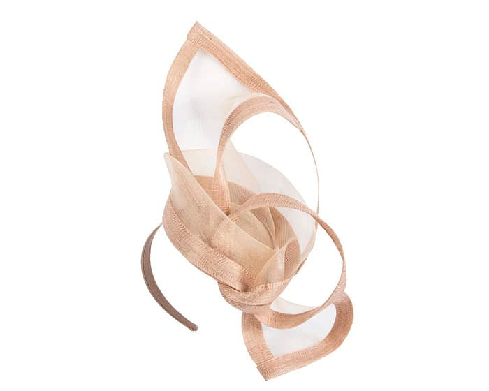 Fascinators Online - Edgy nude fascinator by Fillies Collection 2