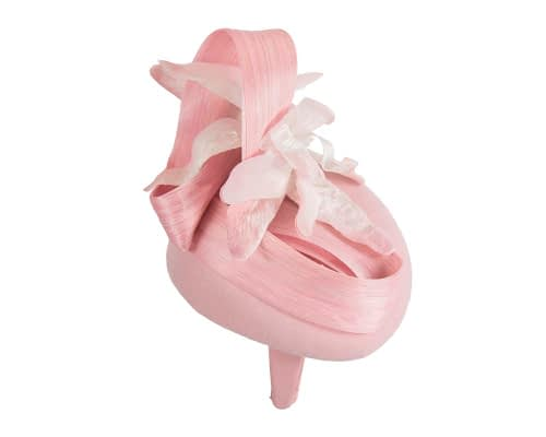 Fascinators Online - Tall pink felt pillbox with flower by Fillies Collection 6