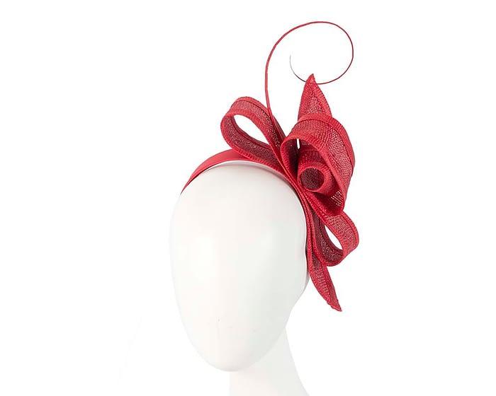 Fascinators Online - Red Australian Made bow fascinator 1