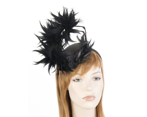Fascinators Online - Black feather racing fascinator by Max Alexander 39