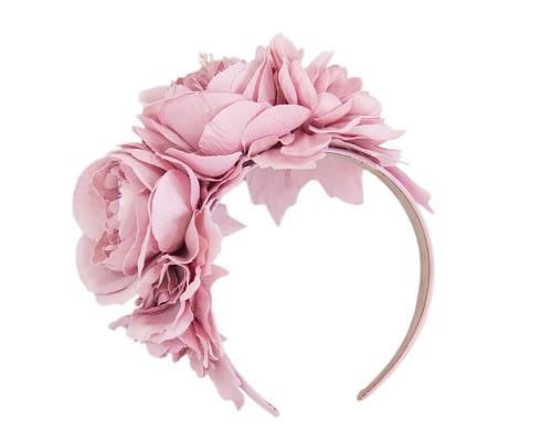 Fascinators Online - Dusty pink flower headband fascinator by Max Alexander 2