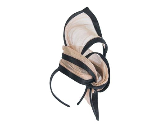 Fascinators Online - Tall black & nude designers fascinator by Fillies Collection 2