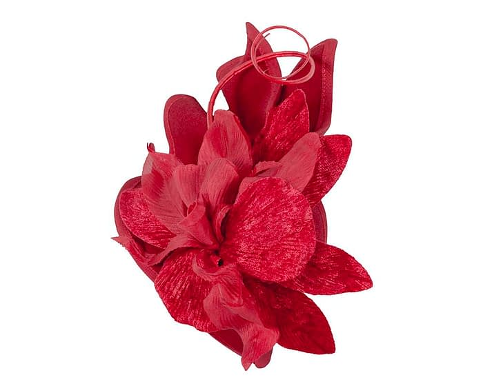 Fascinators Online - Red winter felt fascinator by Fillies Collection 3