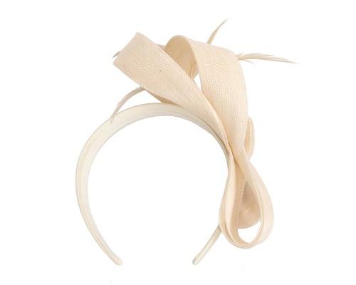 Fascinators Online - Cream loops headband fascinator by Fillies Collection 4