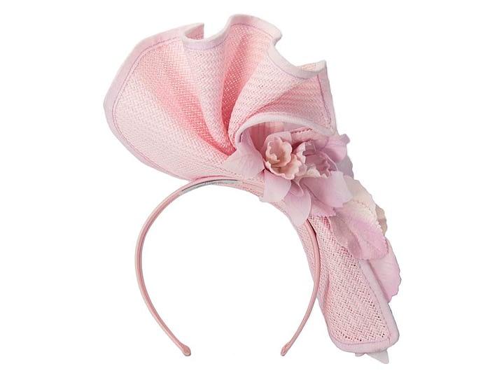 Fascinators Online - Bespoke large pink flower fascinator by Fillies Collection 4