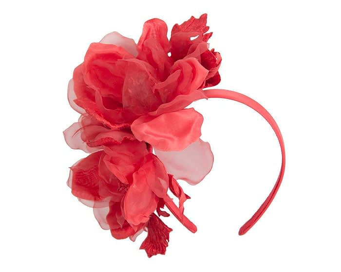 Fascinators Online - Red Silk Flower Fascinator by Fillies Collection 2