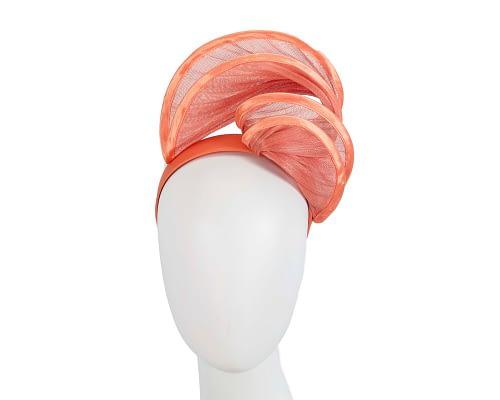 Fascinators Online - Orange headband racing fascinator by Fillies Collection 109