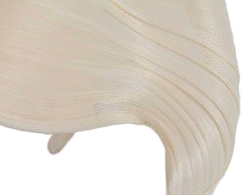 Fascinators Online - Ivory twisted jinsin fascinator by Fillies Collection 3