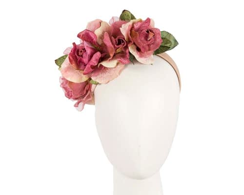 Fascinators Online - Multi-color flower headband by Max Alexander 3