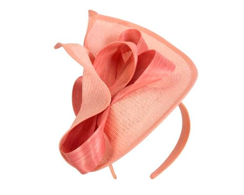 Fascinators Online - Coral fascinator with bow by Fillies Collection 5